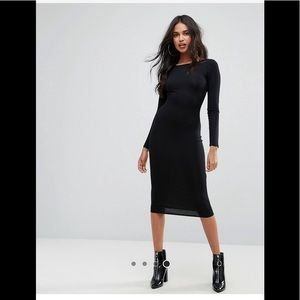 Asos midi dress long sleeve